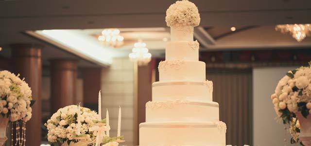 Elegante Hochzeitstorte