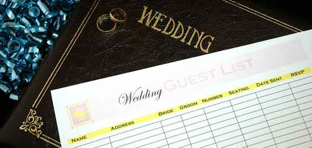 Gästeliste Ihrer Hochzeit, damit Sie niemanden vergessen