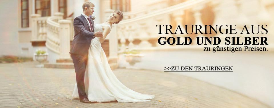 Trauringe aus Gold und Silber
